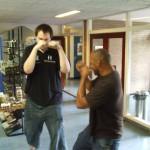 Tobjorn sparring